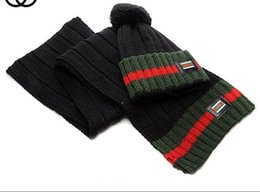 Scarf Shops Australia - Fashion Winter Unisex Hat and Scarf Cute Knit Crochet Beanies Cap Hats For Women Warm Scarf And Hat Twist Knitted Hat Shop High