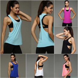 $enCountryForm.capitalKeyWord NZ - 8 Color Summer Sexy Sporting Women Tank Top Fitness Workout Tops Gyming Women Sleeveless Shirts Sporting Quick Drying Loose Vest