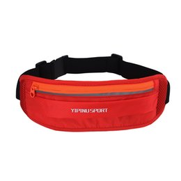 Wholesale Waterproof Nylon Belt Waist Bag Women Fanny Pack Travel Sling Chest Shoulder Bag with Adjustable Belt Band Reflective Hip Pack