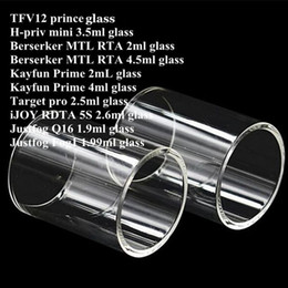 $enCountryForm.capitalKeyWord Canada - TF12 prince H-priv min Berserker MTL RTA Kayfun Prime Target pro iJOY RDTA 5S Justfog Q16 Fog1 Tank Pyrex Replacement Glass Tube DHL