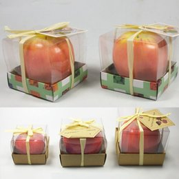 fruit art apple 2019 - Fruit Candles Apple Shaped Candle Scented Bougie Festival Atmosphere Romantic Party Decoration Christmas Eve New Year De