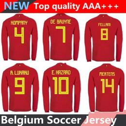 506fff976 18 19 Belgium Long sleeve soccer jersey Lukaku Eden Hazard De Bruyne  BATSTUAYI KOMPANY football long Sleeve jersey shirt camisetas de futbol