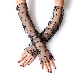$enCountryForm.capitalKeyWord UK - 20pair Sexy Thin Silk Mesh Yarn Arm Sleeves,Outdoor&Driving Lady Anti-UV Sunscreen Hand Protect Women Fingerless Long Gloves