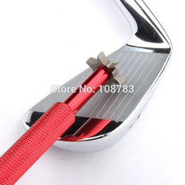 Discount blade golf clubs - Red Golf Iron & Wedge Club Groove Sharpener & Cleaner, U, V Square Grooves-Blades x6