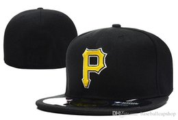 Spring p online shopping - Pirates On Field Style Baseball Fitted Hats Red Color Letter Gold Letter P Embroidery Sport Team Full Closed Caps