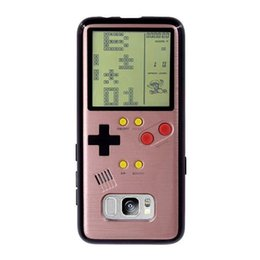 China Tetris Handheld Game Consoles cell hpone case Silica gel protective sleeve Fall proof case Portable Retro Game player For samsung S8 cheap game cases wholesale suppliers