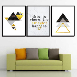 Art Canvas Prints Australia - Canvas Painting Wall Watercolor Pictures Abstract Geometric Figure Posters And Prints Art For Living Room Nordic Decoration