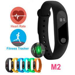 China M2 Heart Rate Smart Wristbands Band Smart Bracelet Bluetooth 4.0 Smartband Fitness MI2 Miband Wristband 2 with OLED Display suppliers