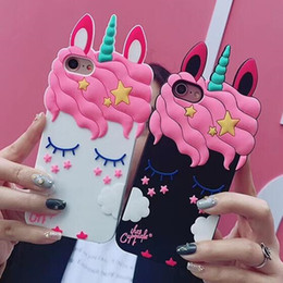 Cute Cases for samsung online shopping - Luxury Cute Cartoon Unicorn Phone Case for iPhone X S Plus S SE S8 S9 Case Soft d Silicone Covers GSZ488