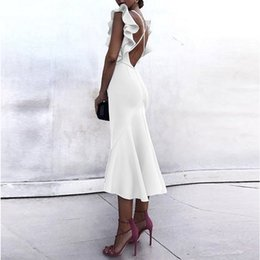 white pencil lead 2019 - 2018 New Pattern Pencil Skirt In Skirt Sexy V Lead Reveal Back Pencil Skirt