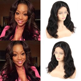 $enCountryForm.capitalKeyWord Canada - Unprocessed Body Wave Lace Front Wigs Brazilian Virgin Human Hair Remy Human Hair Wigs For Black Woman Free Shipping Wholesale Price Wigs