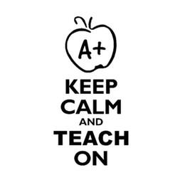 Front Window Stickers Australia - Keep Calm And Teach On Sticker Car Window Vinyl Decal For Teacher School Laptop Front Stickers