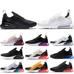 new product c5542 c674b nike air max 270 Vendita all ingrosso! Triple Black shoes unisex 270  Running shoes buona qualità Hot Punch Photo Blue Black Core Bianco uomo  donna Taglia 36 ...