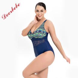 ffdc9a92fce Deerbebe Super Plus Size swimwear women Female One Piece Swimsuit omen  Vintage Bathing Suit One-Piece Suit Size 7XL-11XL sexy