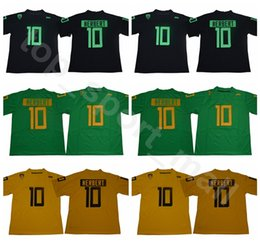 d3e309a2c 2018 2019 NCAA 10 Justin Herbert Jersey Men Oregon Ducks College Football  Jerseys Uniform Home Green Black Yellow Color Breathable