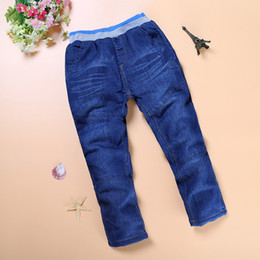 thick boys pant Australia - NZ223, New Brand Children clothing Thick Winter Warm Cashmere Kids clothes Pants Boys Girls Winter Jeans 3-7 y