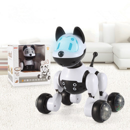 Electronic Voice NZ - High Quality Youdi Voice Control Dog Smart Robot Electronic Dog Cat Voice Control Pet Program Dance Walk Robotic Pets Voice Control Dog Toy