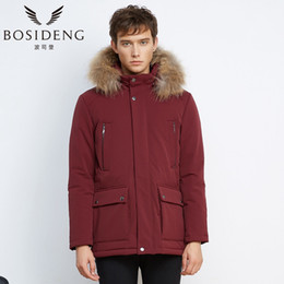 Discount young clothes - BOSIDENG with Fur Collar Young Men Warm Clothes Winter Fashion Jacket Down Jacket B1601249