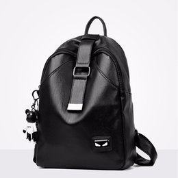 2018 New Fashion Women Backpack Multifunction Solid Color Youth Trend Wild  Leisure Bags Pu Leather Bear Pendant B 7fabe5323bdb8