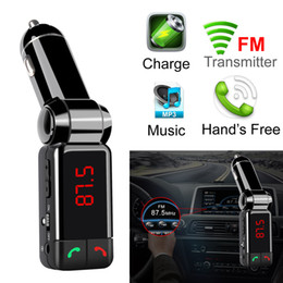 Car Mp3 Mp4 Player Bluetooth Australia - BC06 bluetooth car charger BT car charger MP3 BC06 mp3 MP4 player mini dual port AUX FM transmitter