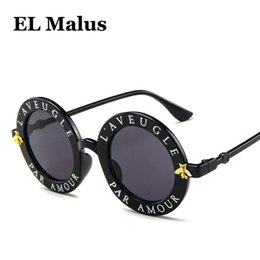 0110e1cee9  EL Malus  2018 Steampunk Retro Round Frame Sunglasses Sexy Ladies Vintage  Bees Sun Glasses Women Brand Designer Fashion Female SG057