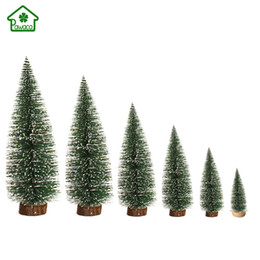 Discount new year desktop - 6Pcs Mini Christmas Tree New Year Table Decoration Ornaments Merry Christmas Desktop Decorations for Home Xmas Trees Sma