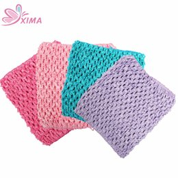 China XIMA 1PC (5inch x 6inch) Girls Wrapped Chest Crochet Headband DIY Hair Accessories (0-8month Girls) cheap crochet chest suppliers