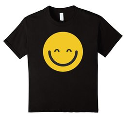 t shirts emoji faces 2019 - Women's Tee Smiling Face Happy Emoji T Shirt Cotton T Shirt For Women Harajuku 2017 Summer Funny Print Female T-shi
