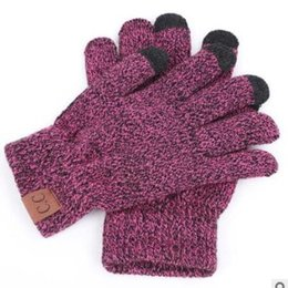 $enCountryForm.capitalKeyWord NZ - 100pair lot High Quality Knit Gloves Man Woman Warm Mittens Plus Velvet Thicken Gloves for touch screens Wool Cashmere Unisex
