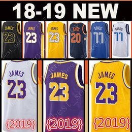 New LeBron James 23 Jersey Men 77 Luka Doncic 20 Kevin Knox 22 DeAndre Ayton  Basketball Jerseys Top sales 51f2c5754