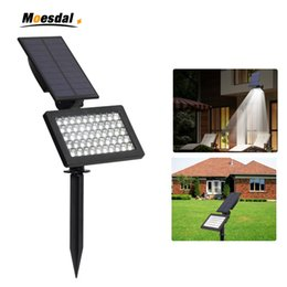 solar power lawn lights Australia - LED Solar Powered Garden Lights 50 LEDs Outdoor IP44 Waterproof Lawn Lamp Landscape Spot Lights Adjustable solar lamps
