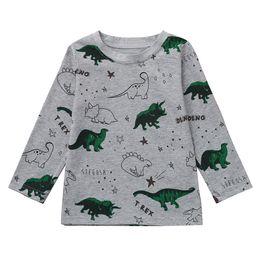 $enCountryForm.capitalKeyWord Canada - Children's Long Sleeve Dinosaur Print T-Shirt Top Boys Girls Fashion Autumn And Winter Cotton O-Neck Soft Comfortable Top