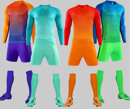 long sleeve soccer uniforms wholesale NZ - Custom jersey designed uniforms adult children's soccer suit kit personalized printed jerseys long sleeves shorts soccer practice team