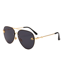 Luxury aviator sunglasses Little Bee Sunglasses 2018 Women Metal Frame  Vintage Brand Glasses Designer Fashion Male Female Shades fbd5379e077c