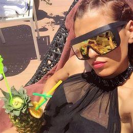 2e3f57958b5 Oversized frame Goggles Men Women Sunglasses fashion Luxury Brand Designer  Sea travel Windproof Prevent sand Eyewear UV400