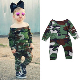 $enCountryForm.capitalKeyWord NZ - Newborn Baby Girl Jumpsuit Toddler Kids Girl Camouflage Romper Playsuit Bodysuit Outfits 0-24 Infant Clothing Onesies