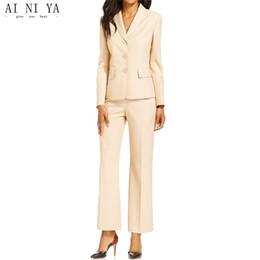 Large Lapel Suits Australia - Fashion women's custom ladies business suit elegant work clothes women's business uniforms large size ladies two-piece suit (coat + pants)