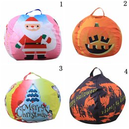 OutdOOr hunting clOthing online shopping - Christmas Storage Bean Bag inch Styles Halloween Stuffed Animal Storage Chair Kids Clothes Toy Outdoor Bags OOA5534