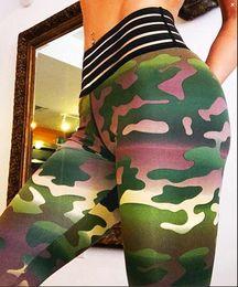 $enCountryForm.capitalKeyWord Canada - Female High waist Camouflage splicing Buttocks fitness Bodybuilding Yoga Pants, sports bottoming, pencil pants