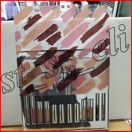 Silver makeup palette online shopping - Silver Series Makeup Set Wet Set Blue Honey Palette Skin Concealer Lipstick Lip Gloss Make up Brushes