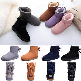 Women Boots Bailey Bow WGG Australia Classic Designer Winter Snow boots  Ankle Mini Short Tall Knee Ribbons Bowtie womens boot Wholesale 9c45f01f5d5b