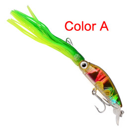 Game Hooks Australia - 10cm squid PVC skirts fishing lures with 2# hook 6 colors plastic hard body Big Game squid trolling fishing baits