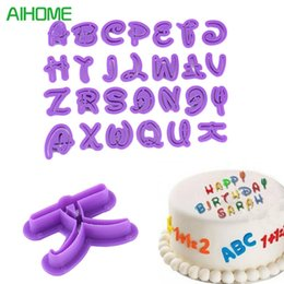 $enCountryForm.capitalKeyWord NZ - 26pcs Font Alphabet Cookie Cutter Number Letter Set Cake Tool Fondant Mold
