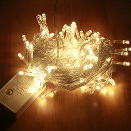 Großhandel AC110V / 220V Weihnachten 10 Mt 20 Mt 30 Mt 50 Mt 100 Mt Fee Girlande LED Lichterketten Wasserdicht Für Weihnachtsbaum Hochzeit Home Innendekoration