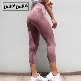 16d2f57f050f Workout Clothes Gym Leggings Fitness Capri Yoga Pants For Women Womens  Capris Pink Sport Sportswear Mesh Pants Yoga Legins Joga