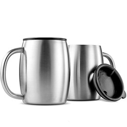 Chinese  420ml Stainless Steel beer Mug Coffee Cup Double Wall portable Water Mug with handle Traveling Outdoor Camping Sports cups For Home Bar manufacturers