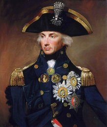 Discount royal oil paintings - Lord Nelson British Royal Navy Admiral Portrait Real Handpainted HD Print Figure Oil Painting Wall Art On High Quality C