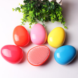hair salons designs NZ - Egg Design Magic Hair Brush Plastic Tangle Detangling Comb Head Scalp Massage Comb Salon Shower Hair Styling Tools Wholesale