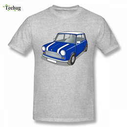 classic car novelties 2019 - Classic Blue Mini Copper Car T Shirt Boy Novelty Summer For Men Quality Cotton Top Tees cheap classic car novelties