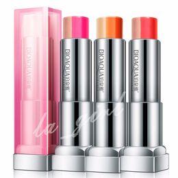 Discount bite lip color - BIOAQUA gradual change Bite lips Moisturizing Three color lipstick charming lip gloss Persistent Makeup Free Shipping